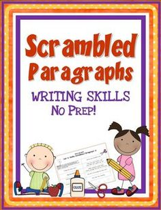 This+NO+PREP+activity+packet+contains+eighteen+(18)+ready-to-use+printables.++Just+copy+and+go!++The+scrambled+paragraphs+in+this+unit+are+similar+to+those+in++Scrambled+Paragraphs+Mini+Unit:+Early+Elementary+Edition.++The+two+products+can+be+used+together+to+differentiate+instruction.