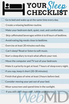 Natural Sleep Remedies - Use this sleep-ready checklist from WebMD to keep your dreams sweet. Insomnia Remedies, Sleep Remedies, Natural Sleeping Pills, Healthy Sleep, Sleep Problems, Bedtime Routine, Sleep Deprivation, Good Night Sleep, The Cure