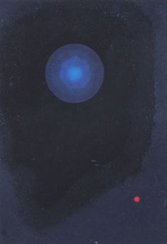 Painter Wassily Kandinsky. Painting. Blue. 1927 year