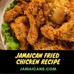 Jamaican Fried Chicken Recipe, Fried Chicken Recipes, Caribbean Fried Chicken Recipe, Cooking Fried Chicken, Jamaican Curry Chicken, Recipe Chicken, Keto Chicken, Jamaican Dishes, Recipes