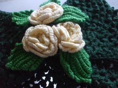 'Crocheted Rose Flower Girl Barrette' is going up for auction at  6am Sun, Jul 1 with a starting bid of $10.