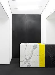 Colorblocked marble, MSGM Flagship store, Milan