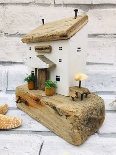 The Smugglers Inn Coastal Art Driftwood Pub Coastal Decor Home Decor Driftwood Art Driftwood Shed Load Of Krafts FarmHouse Driftwood Projects, Driftwood Art, Driftwood Ideas, Wooden Art, Wooden Crafts, Small Wooden House, Wooden Houses, Coastal Art, Coastal Cottage