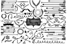 72+ Handdrawn Arrows, Dividers etc. by More Than Cake on Creative Market