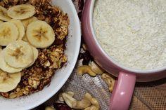 žít vege: zdravé a sladké snídaně(snadno&rychle) Acai Bowl, Oatmeal, Breakfast, Food, Acai Berry Bowl, The Oatmeal, Morning Coffee, Rolled Oats, Essen