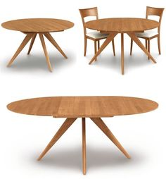 Extendable round table modern design steel and timber | Runde tische ...