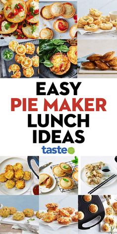 Mini Pie Recipes, Waffle Maker Recipes, Lunch Box Recipes, Dinner Recipes, Cooking Recipes, Healthy Recipes, Easy Family Meals, Quick Meals, Breville Pie Maker