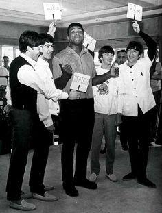 Paul McCartney, George Harrison, Ringo Starr and John Lennon with Muhammad Ali, Jimi Hendrix, John Lennon, Marcello Mastroianni, Liza Minnelli, Tony Curtis, Joey Ramone, Allen Ginsberg, Kurt Vonnegut, Christopher Reeve