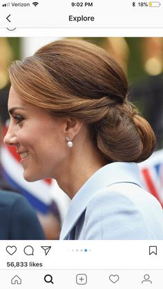 47 Adorable Kate Middleton Hairstyle Ideas For Your Collection To Try Asap - The right hairstyle can make a huge difference to your looks. Changing your hairstyle will also help you feel great about yourself; lots of people cha. Kate Middleton Makeup, Kate Middleton Wedding, Princess Kate Middleton, Mom Hairstyles, Wedding Hairstyles, Hairstyle Ideas, Wedding Hair And Makeup, Hair Makeup, Special Occasion Hairstyles