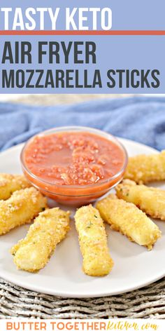 You will love every bite of these tasty keto mozzarella sticks! These gooey mozzarella cheese sticks are coated in a crispy crumb crust and air fried to perfection! This is a must try keto recipe! #ketomozzarellasticks #ketocheesesticks #lowcarbmozzarellasticks #ketoappetizer #ketosnack #airfryerrecipe #healthy #keto #lowcarb Yummy Appetizers, Appetizer Recipes, Snack Recipes, Ninja Recipes, Side Recipes, Low Carb Recipes, Keto Cheese, Cheese Food, Cheese Plates