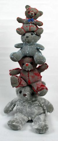 """""""Teddy Tower"""", concrete, 41"""" x 22"""" x 18"""", by artist Ross Bofanti..  Only available at Galerie Saint Dizier!"""