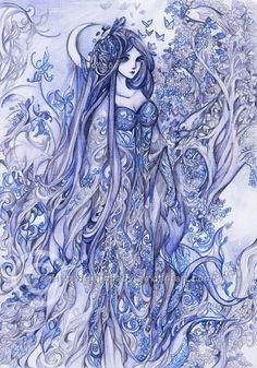 Indigo lady by Hellobaby.deviantart.com on @DeviantArt