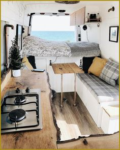 Clever Tiny House Interior Design Ideas « Home Decoration - Wohnwagen Camping Car Sprinter, Van Life, Interior Trailer, Airstream Interior, Kombi Home, Bus Home, Modern Interior, Interior Design, Diy Van Interior