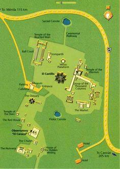 map of chichen itza ruins | More Chichen Itza Information