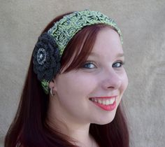 Hand knitted Ladies / Girls Beanie Band / Headband / Ear warmer by HandmadebyAuntyTart on Etsy