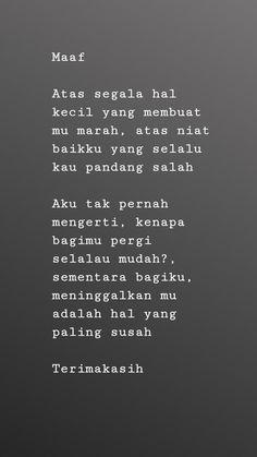 Quotes, self reminder, quotes indonesia, kata-kata mutiara, broken relation Quotes Rindu, Quotes Lucu, Cinta Quotes, Quotes Galau, Story Quotes, Tumblr Quotes, Text Quotes, People Quotes, Mood Quotes