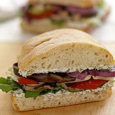 grilled vegetables and goat cheese (chèvre) in this gourmet sandwich ...