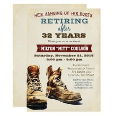 Retirement Party Invitations Retirement Construction Military Invitation