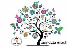 mandala en vinilo deco What Is Graphic Design, Wall Painting Decor, Willow Tree, Mexican Art, Tree Art, Decoration, Folk Art, Diy Crafts, Artwork