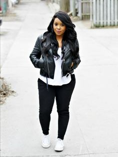 My Voguish Diaries: leather, joggers and converse