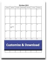 Printable Monthly Calendar Templates Customize Download In Word