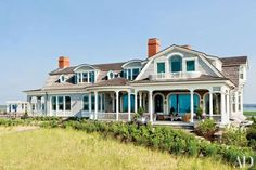 On Long Island's East End, designer Juan Montoya refines a rambling Shingle Style dwelling with dashing, art-filled interiors that embrace its glorious setting.
