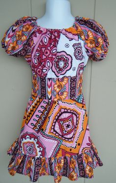 The Lelia Dress Peasant style dress size by ThisNThatByNicolette,