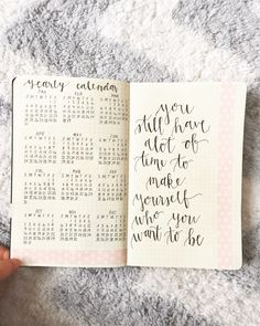 """wandurlusting: """" Finally set up my 2016 bullet journal, and started planning for next week  """""""