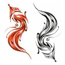 Image result for red and black tattoo sketch