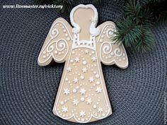 Купить Пряник расписной Рождественский Ангел. Новый год 2016 - новогодние пряники козули