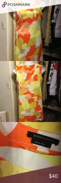 "Great dress! Love the colors! This fun dress is 20"" pit to pit and 36"" long. Side zipper. BCBGMaxAzria Dresses"