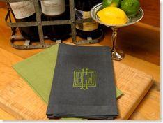 custom monogrammed guest towels