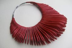 Henry Lanham  Necklace - Plywood, steel, colour, lacquer