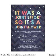 Couples Baby Shower invitation Coed Shower Joint More