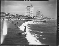 Before the Long Beach Breakwater was  constructed, Long Beach had waves!
