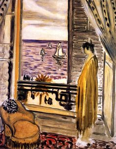 Woman with a Spanish Comb Standing by a Window / Henri Matisse - 1919
