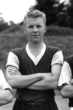 LEGEND in the making: The unmistakable smile of a young Bobby Moore, just a few weeks before maiking his first-team debut for West Ham in a 3-2 win over Manchester United at Upton Park on September 8, 1958