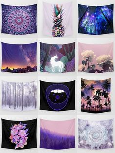 Society6 Purple Tapestries - Society6 is home to hundreds of thousands of artists from around the globe, uploading and selling their original works as 30+ premium consumer goods from Art Prints to Throw Blankets. They create, we produce and fulfill, and every purchase pays an artist.