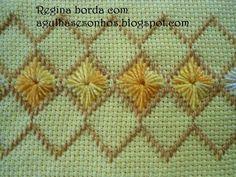 Risultati immagini per ponto reto Swedish Embroidery, Hardanger Embroidery, Ribbon Embroidery, Embroidery Stitches, Embroidery Designs, Cross Stitch Gallery, Cross Stitch Borders, Cross Stitching, Cross Stitch Patterns