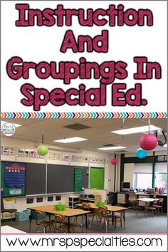 Instruction Options in Special Education Classrooms. Really valuable information.
