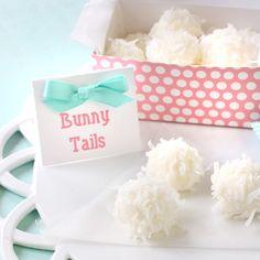 Too cute! Bunny tail treats.