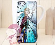 elsa and anna disney frozen stained glass for iPhone 4/4s, iPhone 5, Phone 5s, iPhone 5c, Samsung Galaxy s3, Samsung Galaxy s4 Case