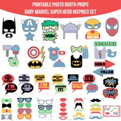 8 best disney princess party images on pinterest printable photo instant download muted baby marvel super hero inspired printable photo booth prop set printable photo booth propsdiy solutioingenieria Images
