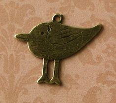 10 pcs Antique Bronze Bird Charms by SandraSupplies on Etsy, $3.25