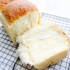 so soft it can barely stand: poolish starter hokkaido toast highly recommended ? Asian Bread Recipe, Soft Bread Recipe, Bun Recipe, Poolish Bread Recipe, Ciabatta, Baguette, Hokkaido Milk Bread, Japanese Milk Bread, Breakfast Bread Recipes