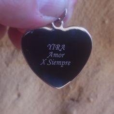 Joya con dedicatoria perfecto para regalo para su pareja.  #Mgrabados #Corazon #Joyas #Bogota #Colombia #Dedicatoria #Lujo #AmoryAmistad