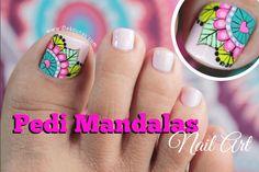 New fails art tutorial link Ideas Mani Pedi, Manicure And Pedicure, Toe Nail Art, Toe Nails, Mandala Nails, Toe Nail Designs, Nail Decorations, Art Tutorials, Toenails