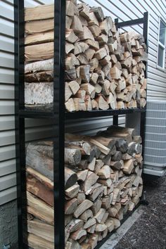 Easy and Creative DIY Firewood Rack and Storage Ideas tag: outdoor firewood rack ideas, firewood storage rack ideas, indoor firewood rack ideas, firewood rack cover diy, ideas for firewood rack. Firewood Rack Plans, Firewood Stand, Outdoor Firewood Rack, Firewood Holder, Firewood Storage, Rack Design, Storage Design, Storage Ideas, Storage Rack