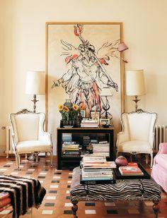 Love these chairs!  La Casa de Carolina Herrera Báez