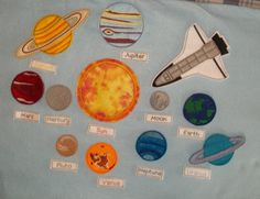 Outer Space Solar System Universe Learn Teach Play set 11
